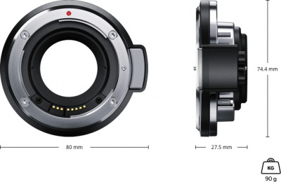 Сменный байонет Blackmagic URSA Mini Pro EF Mount от магазина jvcvideo.ru